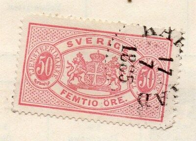 Sweden 1874-96 Early Issue Fine Used 50ore. Officials 123338