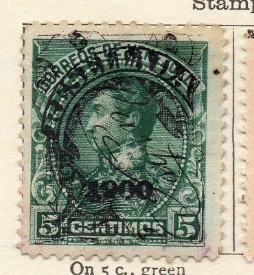 Venezuela 1900 Early Issue Fine Used 5c. Optd 123345