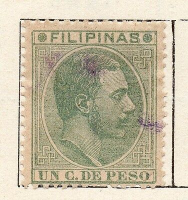 Philippine Islands 1880 Early Issue Fine Used 1c. 123366