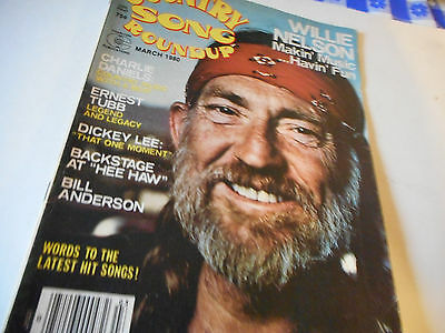 Willie Nelson Covers Country Song Roundup Magazine March 1980 Ernest Tubb