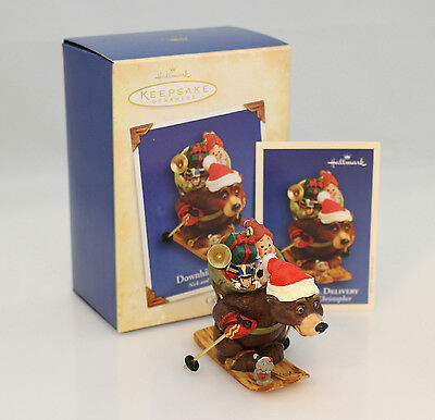 Hallmark Ornament 2004 Nick and Christopher #1 - Downhill Delivery QX2834-SDB