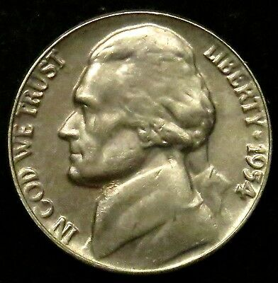 1954 Jefferson Nickel AU About Uncirculated (B01)