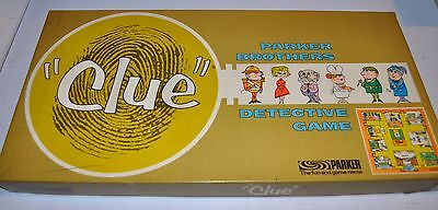 CLUE Detective Game BOARD GAME 1960s Parker Brothers