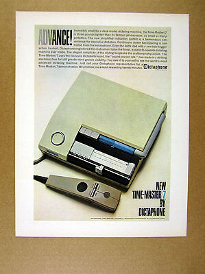 1962 Dictaphone Time-Master/7 dictating machine photo vintage print Ad