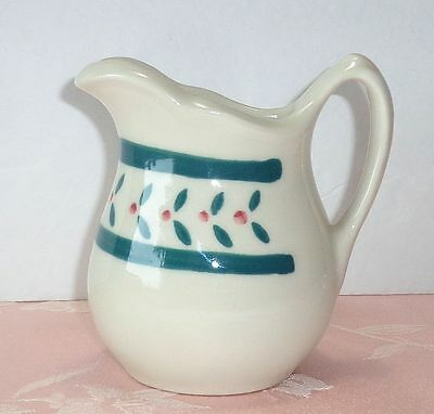 Hartstone Pottery BERRIES Creamer Small Pitcher Jug Red Green Berry NICE