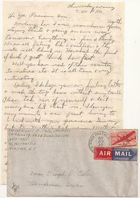 WWII Letter. 462nd Bomb Group, B-29's. North Africa, en Route to India, 1944.