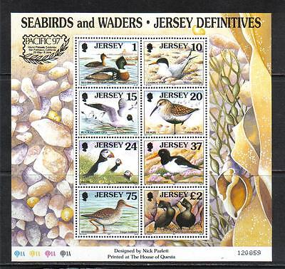 Jersey 1997 Local Birds ss PACIFIC '97 overprint--Attractive Topical (785b) MNH