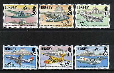 Jersey 1997 Airport 60th Anniversary--Attractive Airplane Topical (790-95) MNH