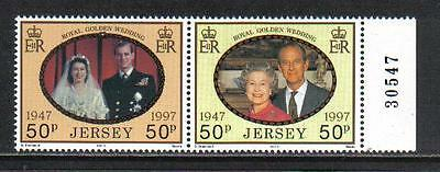 Jersey 1997 QEII Golden Wedding Anniversary--Attractive Topical (823a) MNH