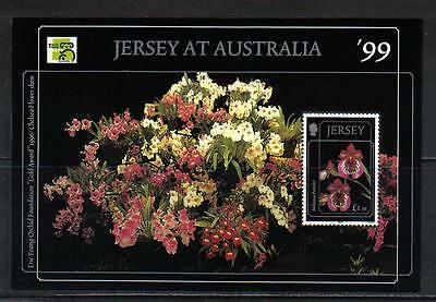 Jersey 1999 Orchids ss--Attractive FlowerTopical (896) MNH