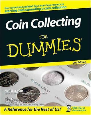 Coin Collecting for Dummies by Neil Berman (English) Paperback Book Free Shippin