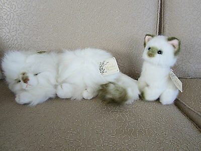 Yomiko Cats Stuffed Animals Mother & Baby With Tags Retired Valentines Day