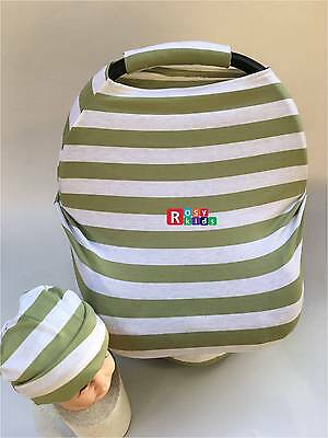 Stretchy Car Seat Canopy Multi Use Cover Baby Beanie Carrying nursing cover!!!