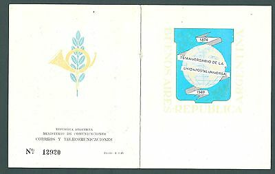1949 Presentation Booklet from ARGENTINA - UPU