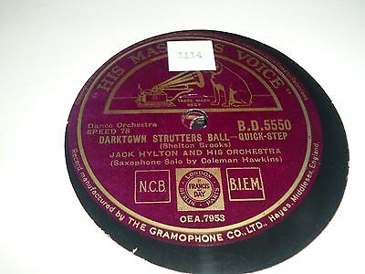 "JOBLOT Collection of 7x JACK HYLTON DANCE BAND 10"" 78RPM Gramophone Record 34/8"
