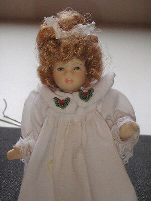 Delton Bisque/porcelain? Jointed Doll Little Girl With Outfit Made In China Cute