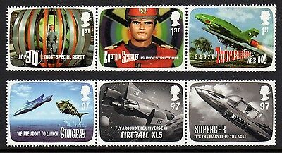 """Gb. 2011. """"f.a.b. Thunderbirds"""". 2 Strips Of 3 Stamps. No Folds. Mnh."""