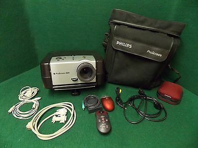 Phillips ProScreen 4600 Endurance Projector w/ Case and Cords~