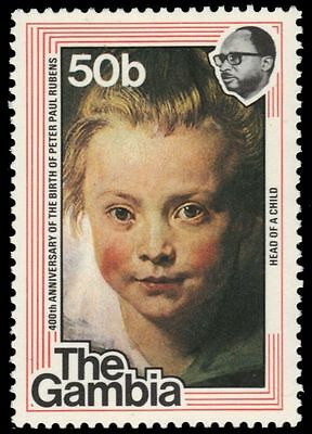 """GAMBIA 373 (SG390) - """"Child's Head"""" by Reubens (pf40871)"""