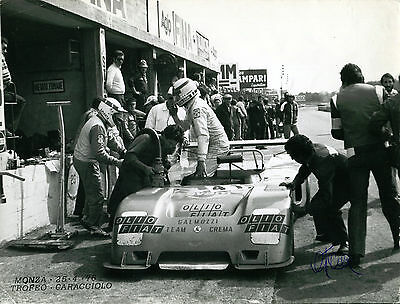 Giorgio Pianta Jolly Club Chevron B23 4h Monza 25.04.1976 altes PR Foto 18x24