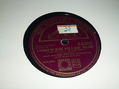 "JOBLOT Collection of 4x JACK HYLTON 10"" 78RPM Gramophone Record 34/18"