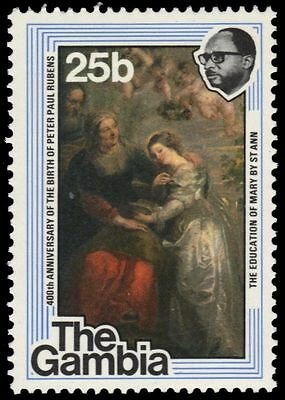 """GAMBIA 372 (SG389) - """"The Education of Mary"""" by Reubens (pf40870)"""