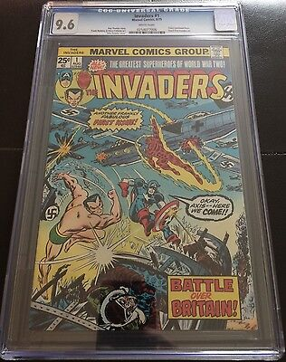 The Invaders 1 Cgc 9.6 White Pages Captain America
