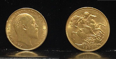 1904-S Specific date--no random date--QUALITY BU GOLD COIN EDWARD VII  SOVEREIGN