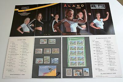 Aland Finland Official Year Set 1998 MNH Complete as Issued - EXCELLENT!
