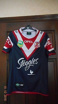 Mens Rugby Shirt - Sydney Roosters - Xs - Home 2013 - Isc