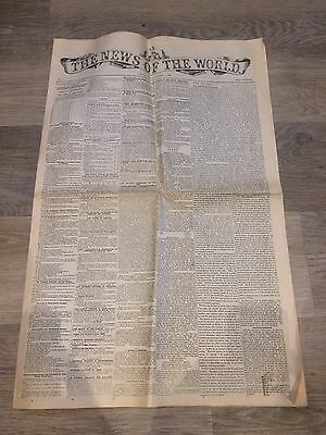 News Of The World - First Edition Anniversary Reproduction
