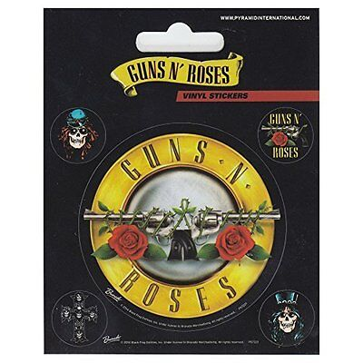 Guns N Roses Sticker Set of 5 stickers Officially Licensed