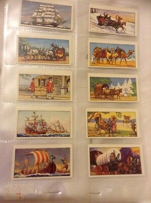 Typhoo tea cards, Travel through the Ages Full Set Of 24