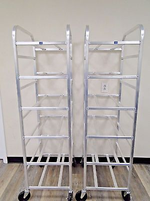 Lot of 2 NAI New Age Industrial Rolling Aluminum Rack Commercial Cart 1279CL