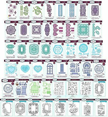 CREATIVE EXPRESSIONS - SUE WILSON CHOICE of DIES, STAMPS - Jan. 2017 FREE UK P&P