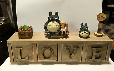 ToToRo My Neighbour Figure Wooden 4Drawer Cabinet Studio Ghibli Anime Gift