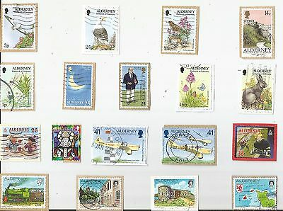 A  Fresh New Selection Of Kiloware Stamps From Alderney