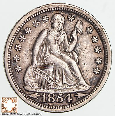 1854 Seated Liberty Silver Dime *1226