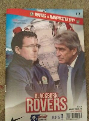 Blackburn Rovers v Manchester City FA Cup 3rd Round Programme 2014