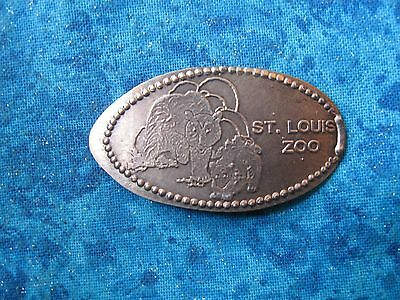 ST. LOUIS ZOO COPPER Elongated Penny Pressed Smashed 25K