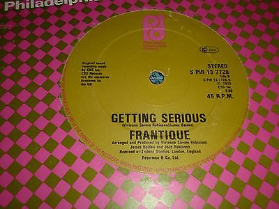 "FRANTIQUE Getting Serious 12"" Vinyl Single Philadelphia 34/61"
