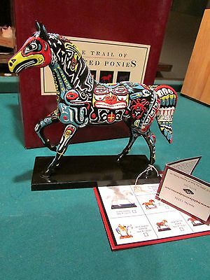 Trail of Painted Ponies  SPIRITS OF THE NORTHWEST 2E/8246 Alaska Horse Totem MIB
