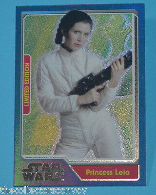 Topps - Journey to Star Wars Awakens Limited Edition card Princess Leia MB