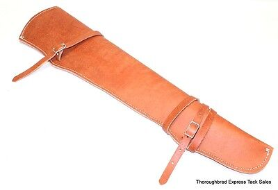 Tan Split Leather Rifle Scabbard for Western Saddle Made in USA Horse Tack