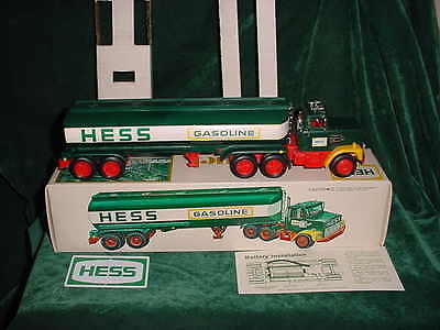78 Vintage Valentines Day Collectable  Hess Trucks 1978 Toy Tanker Truck Toys