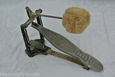 VINTAGE WFL Ludwig BASS PEDAL with LAMBS WOOL BEATER for DRUM & SET!!! #Z296