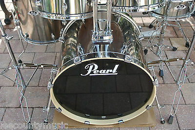 """ADD this PEARL 22"""" EXPORT SMOKEY CHROME BASS DRUM to YOUR DRUM SET! LOT #T147"""
