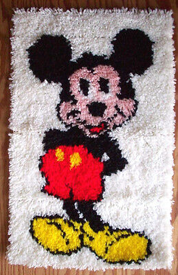 Mickey Mouse completed latch hook