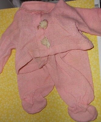 Vintage Pink Baby Doll Outfit 2-Piece, Tag Vogue Dolls