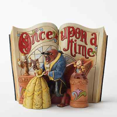 Disney Jim Shore Belle Beauty & Beast Storybook Figurine Lumiere & Cogsworth